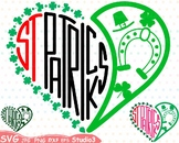 St. Patricks Day Silhouette SVG Cutting Files Shamrock love heart Saint -69sv