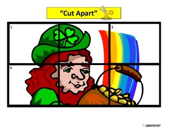 St. Patrick's Day Simple Puzzles for Autism