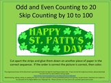 St. Patrick's Day Skip Counting Cut And Glue