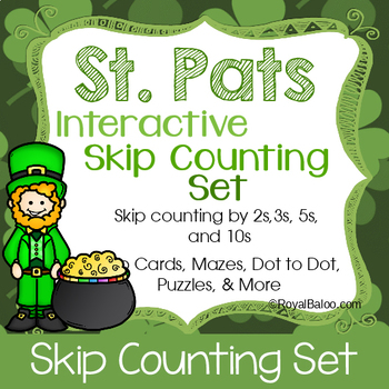 St Patricks Day Skip Counting Interactive Set