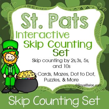 St Patricks Day Skip Counting Interactive Set