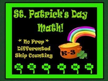 St. Patrick's No Prep Skip Counting