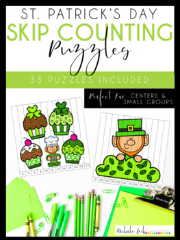 St. Patrick's Day Skip Counting Puzzles by Nichole L.