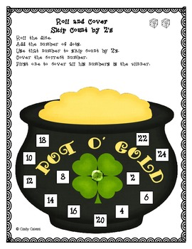 St. Patrick's Day: Skip Counting Roll and Cover