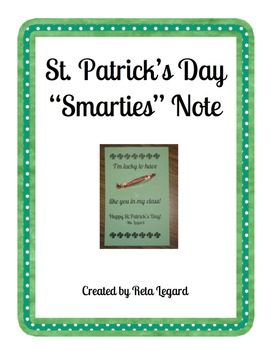 St. Patrick's Day Smarties Notes