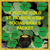 Practicing Pragmatics: A Pot of Gold St. Patrick's Day Social Skills Packet