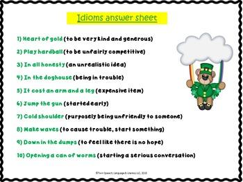 Practicing Pragmatics:St. Patrick's Day Social Skills Packet