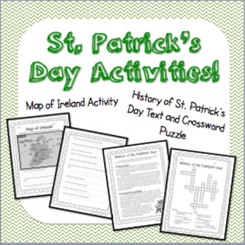 St. Patrick's Day Social Studies Activities!