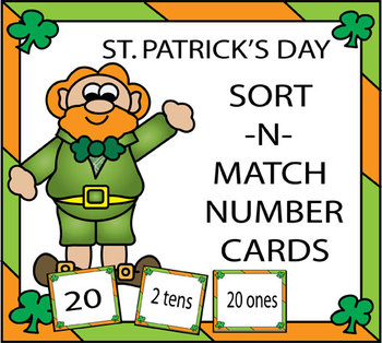St. Patrick's Day Sort-N-Match Number Cards