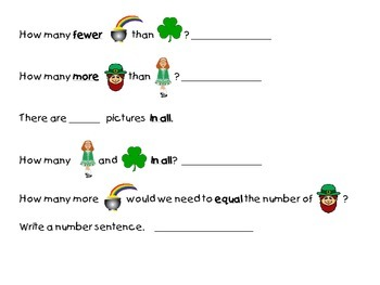 St. Patrick's Day Sort, Tally, and Label