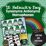 St. Patrick's Day Games (Synonyms, Antonyms, Homophones)