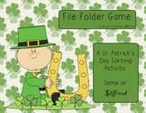St. Patrick's Day Sorting **FILE FOLDER GAME**