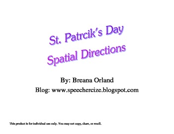 St. Patrick's Day Spatial Directions