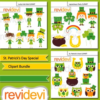 St. Patrick's Day Special Clip Art (3 packs)
