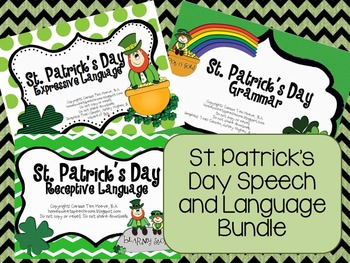 St. Patrick's Day Speech/ Language Bundle