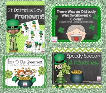 St. Patrick's Day Speech & Language Bundle!