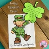 St Patricks Day Speech Therapy Craft | Articulation Langua