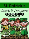 St. Patrick's Day Speech and Language Bundle