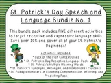 St. Patrick's Day Speech and Language Bundle No. 1