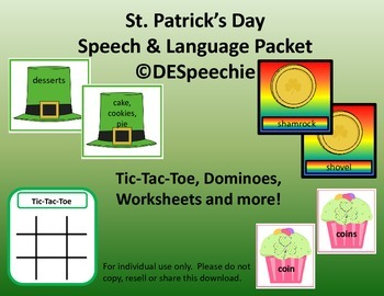 St. Patrick's Day Speech and Language Packet
