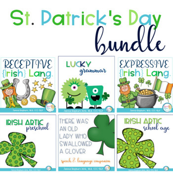 St. Patrick's Day Speech and Language Super BUNDLE