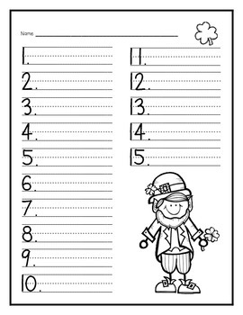 St. Patrick's Day Spelling Test Paper FREEBIE