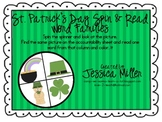 St. Patrick's Day Spin & Read Word Families