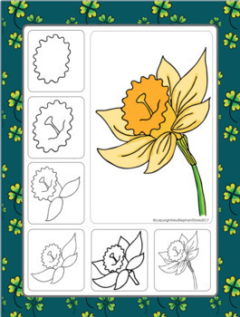 St. Patricks Day Spring Directed Drawing Pack