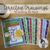 St. Patricks Day and Spring Art Activities (March Directed Drawings)
