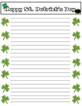 St. Patrick's Day Stationary