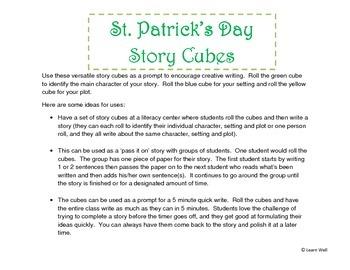 St. Patrick's Day Story Cubes