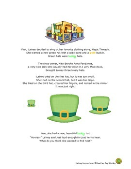 St. Patrick's Day Story - Lainey Leprechaun, Her Lucky Charms, & Her Pot of Gold