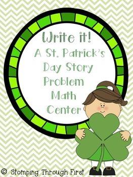 St. Patrick's Day Story Problems Math Center FREEBIE!