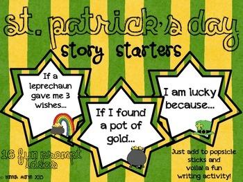 St. Patrick's Day Story Starters {Freebie!}