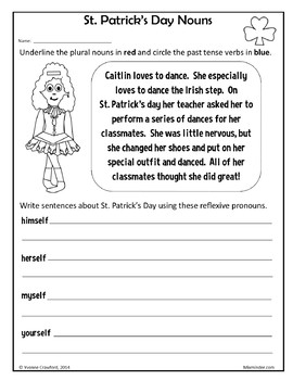 St. Patrick's Day NO PREP Printables Second Grade Common Core Math and Literacy