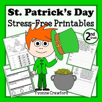 St. Patrick's Day NO PREP Printables Second Grade Common C