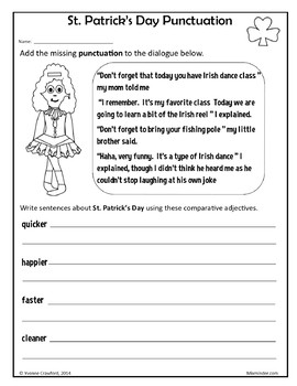St. Patrick's Day NO PREP Printables - Third Grade Common Core Math and Literacy