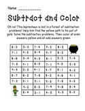 St. Patrick's Day Subtract and Color Activity