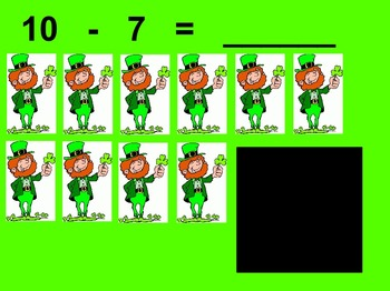 St. Patrick's Day Subtraction