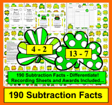 St. Patrick's Day Math: Subtraction