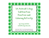 St. Patrick's Day Subtraction Practice and Coloring Activity