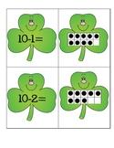 St. Patrick's Day Subtraction Ten Frames