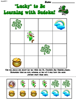 St. Patrick's Day Primary Sudoku