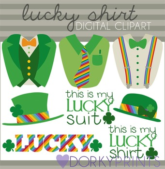 St. Patrick's Day Suits Clip Art