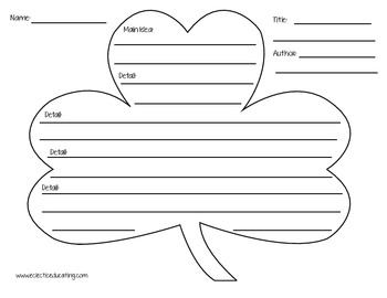 St. Patrick's Day Summary Graphic Organizers