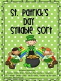 St. Patrick's Day Syllable Sort Mega Packet