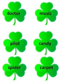 St. Patrick's Day Syllable Sort Mega Packet
