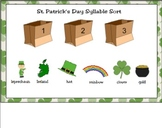 St. Patrick's Day Syllable Sort for Smart Board
