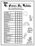 St. Patrick's Day Syllables and Vocabulary