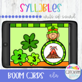 St. Patricks Day Syllables with Boom Cards Distance Learning